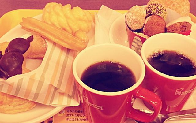 ミスタードーナツはコーヒー・ホットカフェオレのおかわり無料